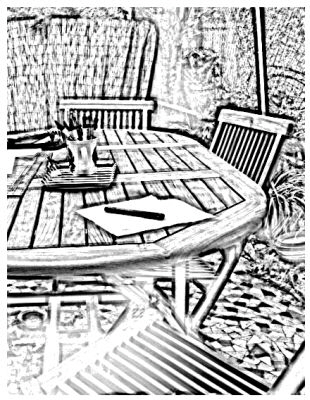 table et chaise photo to sketch 1